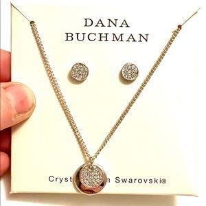 Dana Buchman Pave Crystal necklace Earrings SET